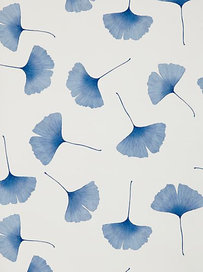 Marimekko Biloba Wallpaper, Blue, i would love this design in a room...