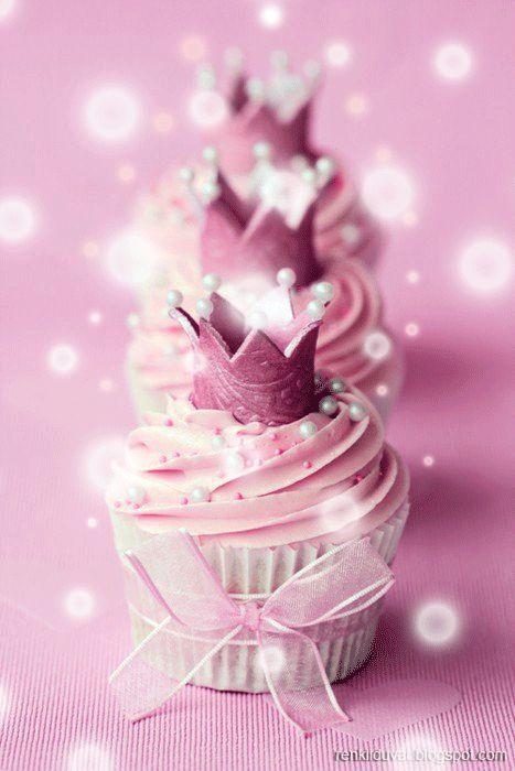 Hareketli Doğum Günü Kartları Birthday Cupcake Gif ~ Renkli Duvar