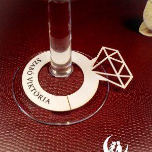 Ring ültetőkártya #lánybúcsú #ültetőkártya #lézervágott #bridalshower #placecard #lasercutting #ring