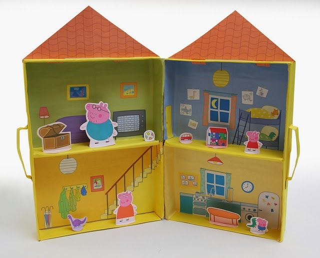 Peppa Pig Free Printable Puppet Playhouse.