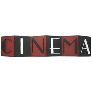 "Down in front! This Cinema Metal Wall Decoration mimics a folding screen and would look great in your living room, family room or theater room. With its folded design, it can stand on its own on your mantel, shelf, or table - or you can hang it on the wall with the attached hardware! Add a touch of classic cinematic flair to your home with this stunning black and red piece.    	     	Dimensions:    	  		Length: 4 3/4""  	  		Width: 21 1/2"""
