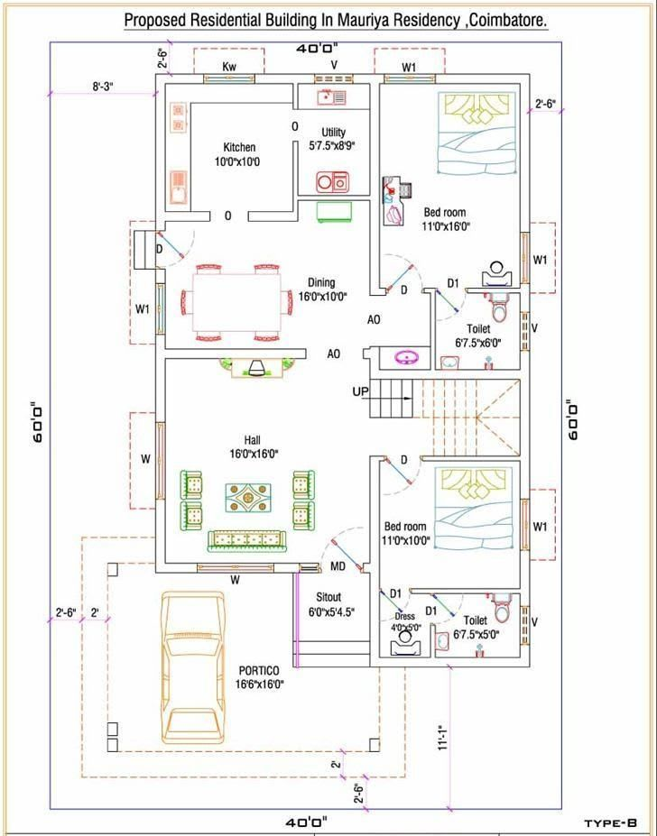 40 Awesome House Design Ideas For Different Area Engineering Discoveries In 2021 30x40 House Plans Free House Plans Indian House Plans 2 bedroom house plans indian style north facing