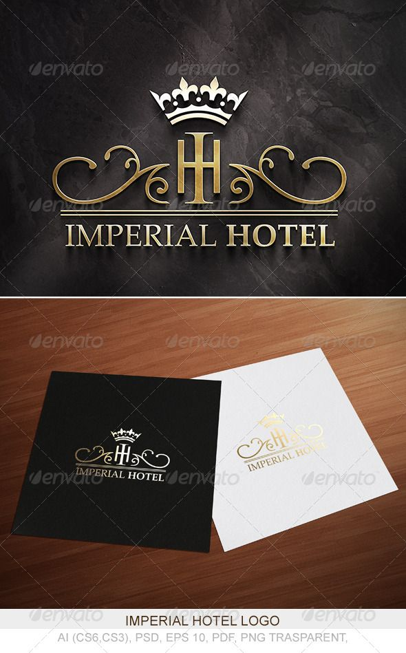 Imperial Hotel Logo — Photoshop PSD #luxury #elegant • Available here → https://graphicriver.net/item/imperial-hotel-logo/4179535?ref=pxcr