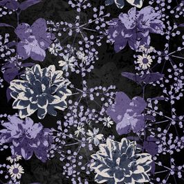 Opulent Dark Veils 002 Floral With Lace Overlay