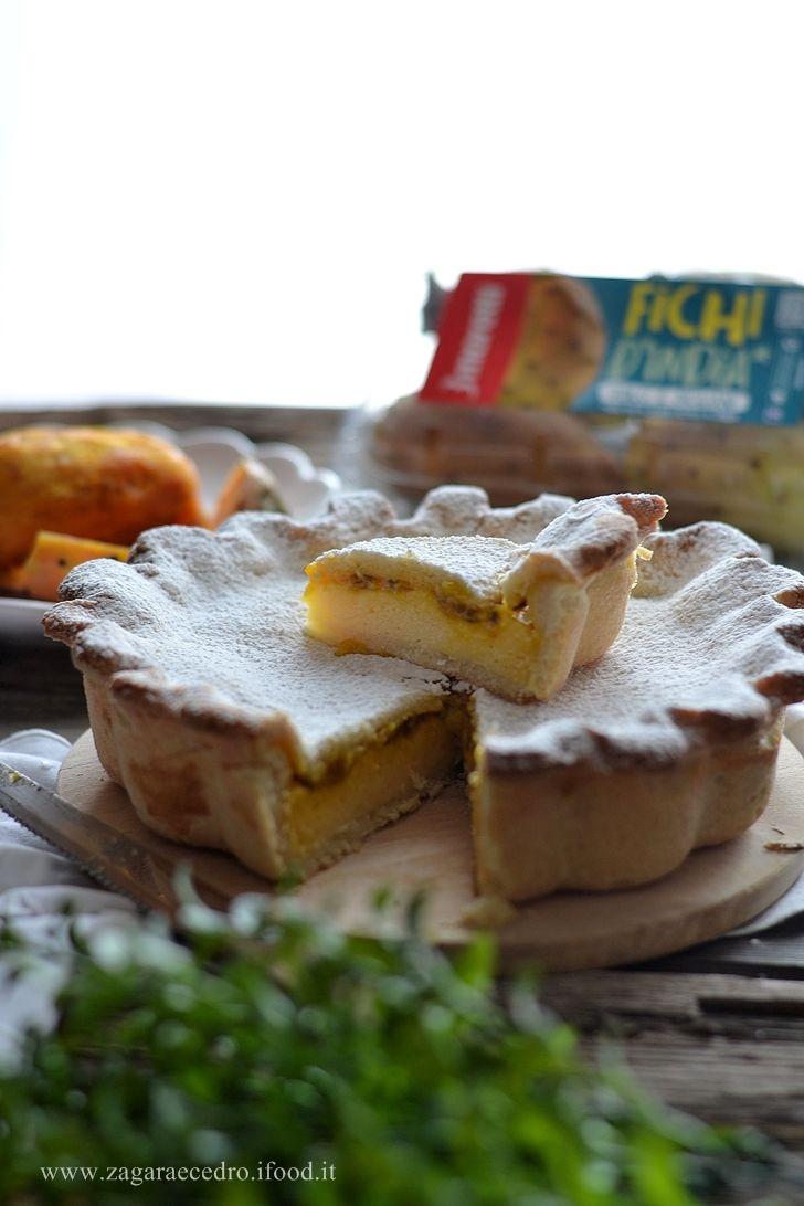 Crostata con crema pasticcera e fichi d'India http://www.zagaraecedro.ifood.it/2016/09/crostata-con-fichi-dindia.html
