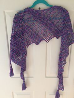 Assymetrical Crochet Shawl Pattern