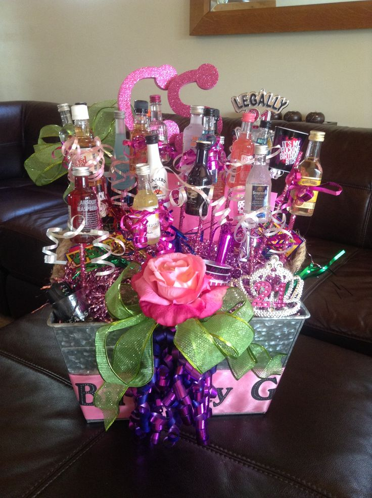 Gift Basket Ideas For 21 Year Old Female Hy St Birthday My