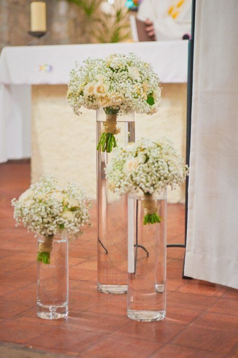 "Bouquet de Gypsophile "" église"" Wedding "" C """