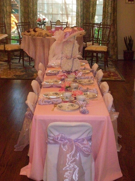 At Home Baby Shower / Little Girls Tea Party