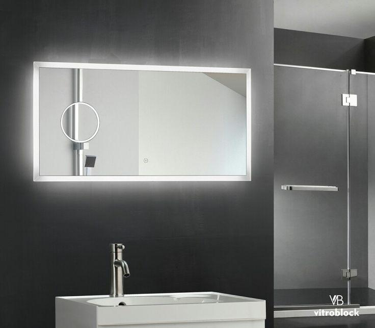 ESPEJO LED TIONESTA Iluminación Led | Desempañador | Timer | Zoom ⚬ Medidas: 100 x 50 x 4,5 cm. . . #Vitroblock #Espejos #EspejosLed #Led #Decoración #Decohogar