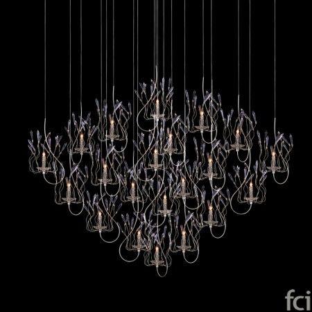 Candles and Spirits Squadra YCASH50N #ChandelierLamp by #BrandVanEgmond. Showroom open 7 days a week.  #fcilondon #furniture_showroom_london #furniture_stores_london #modern_ChandelierLamp #BrandVanEgmond_furniture #BrandVanEgmond_lighting #Lavish_Lighting_Sculpture