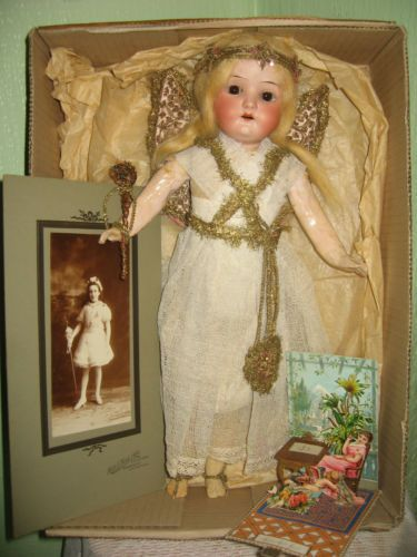 Old Antique Vintage Bisque Heaubach 250 Doll Dressed as A Christmas Fairy | eBay