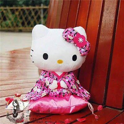 TOKO SOUVENIR ONLINE                                                           KOLEKSI HELLO KITTY : boneka kimono hk duduk