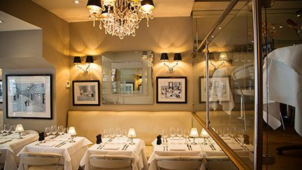 Head to Marco Pierre White's London Steakhouse Co. Chelsea for a complete dining experience with wine for two.