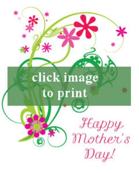 Printable Mothers Day Cards For: Free Printable Mothers Day Card For Sister