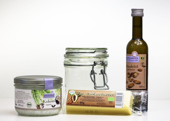 Material für Kokosöl Bodybutter