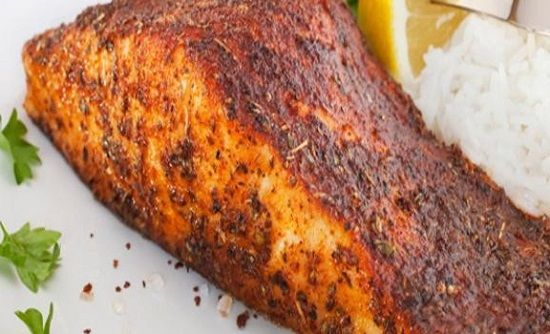 Blackened Redfish Ingredients: 810oz redfish fillets 3/4 lb unsalted butter, melted ----SEASONING MIX--- 1 tablespoon sweet paprika 2 1/2 teaspoon salt 1 t