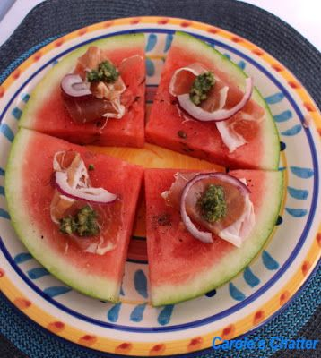 http://caroleschatter.blogspot.co.nz/2013/08/Watermelon-pizza-style-proscuitto-red-onion-tasty-cooling.html