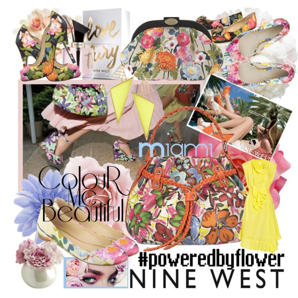 I hope they like it!!! ~ @NINEWEST in Miami #poweredbyflower, created by minniesoda.polyvore.com