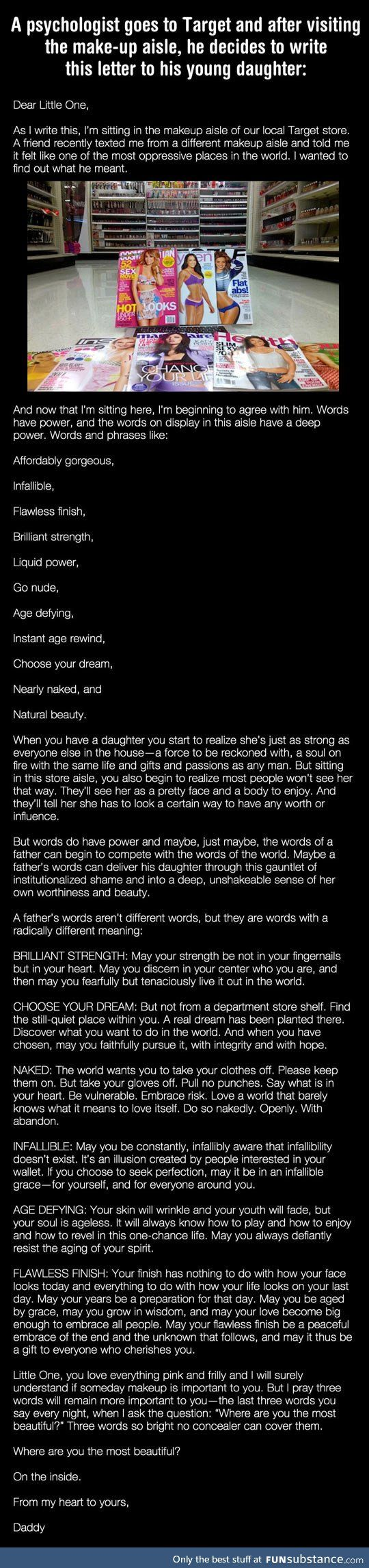 Psychologist writes the most perfect letter to his daughter