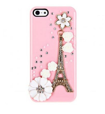 iPhone 5 case 3D Tower Rhinestones Plastic Back
