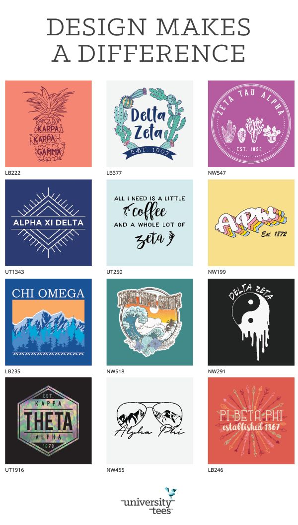 Designs make a difference! Made by University Tees I Apparel Designs | Custom Greek Apparel | Sorority T-shirts | Sorority Shirt Designs I Greek T-shirts I T-shirt Designs I Sorority Designs