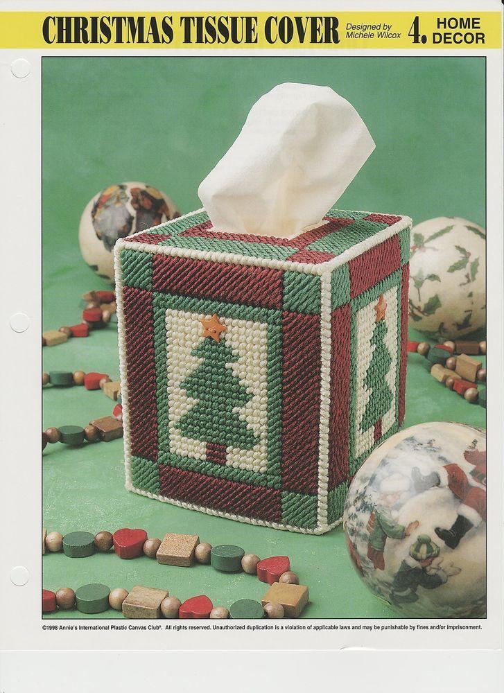 Christmas Tree Tissue Box Cover Plastic Canvas Pattern
