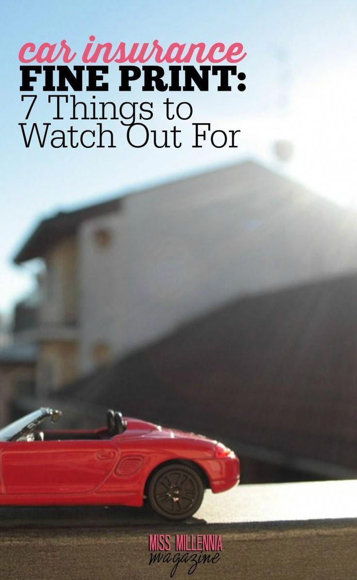 7 Things To Watch Out When Choosing A Car Insurance Policy Car