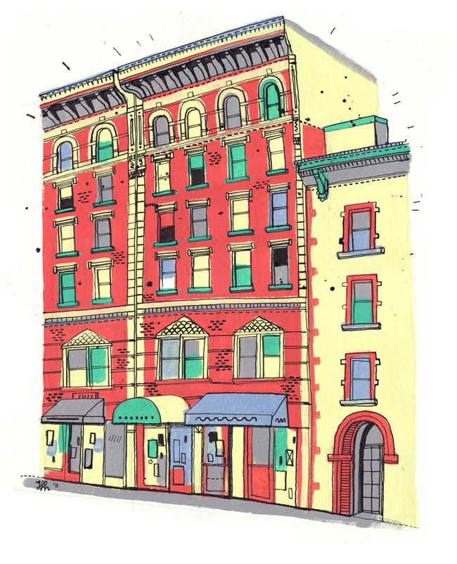 Brick Apartment Building Illustration. Illustrated New York  James Gulliver Hancock 42 best Building Illustrations images on Pinterest