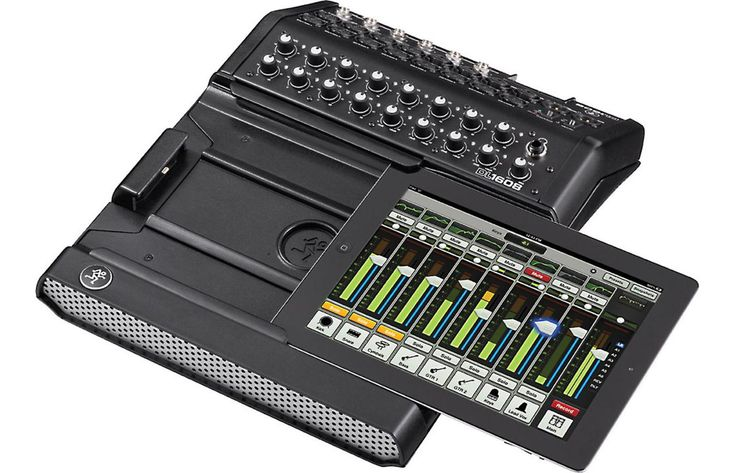 Save $100 on the Mackie DL1608 16-channel digital live sound mixer with iPad® control (Lightning dock connector). Limited time offer.