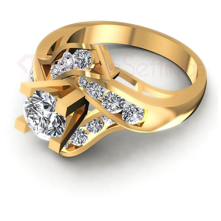 Present yourself with our luxuriant 14KT yellow gold diamonds engagement rings. Composed with 1.10CT cut breathtaking diamonds . This engagement rings features exquisite diamonds of I-J color and, SI1 group clarity. Shine with elegance and simplicity with our 14KT yellow gold diamonds engagement rings.