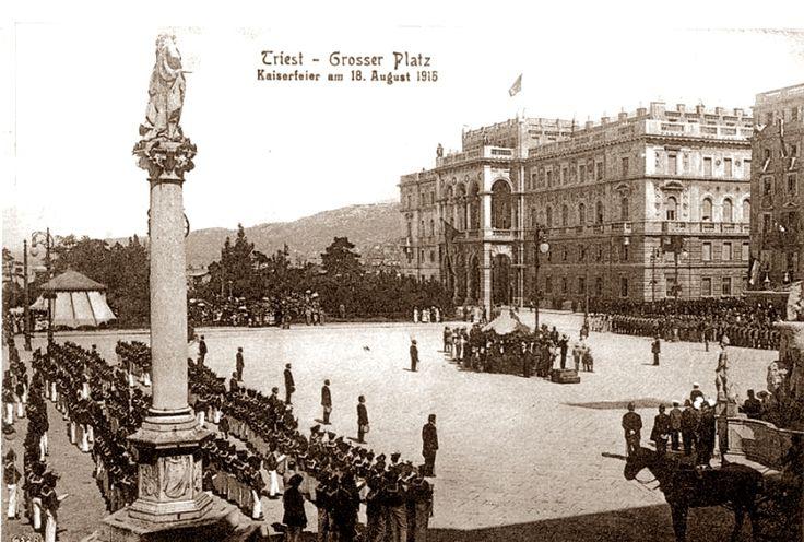 Trieste - Italy Piazza Unità 18 agosto 1915
