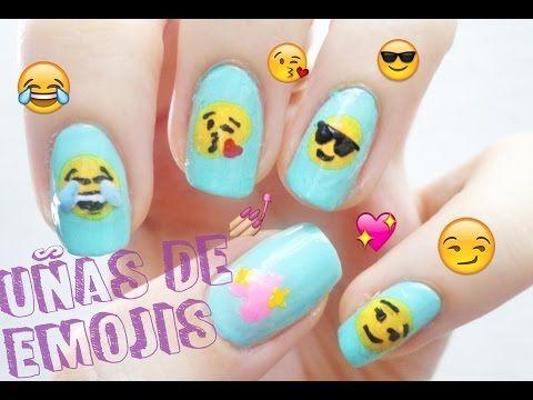 Tutorial: ¿Cómo hacer uñas de emoji? - YouTube