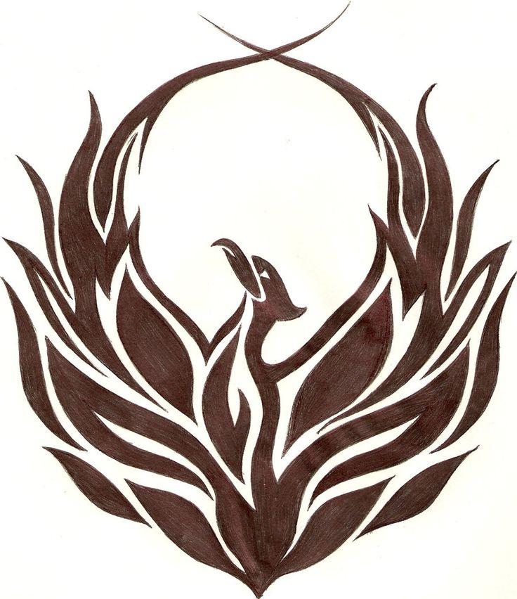 drawing of the phoenix bird   Tribal Phoenix by ~iAdamski on deviantART