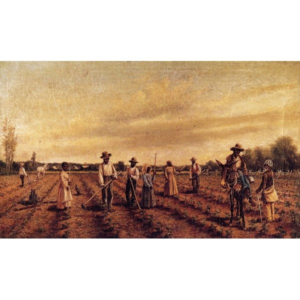 Hoeing cotton oil painting for sale on men for Oil art for sale