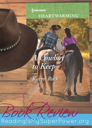 """***GIVEAWAY & REVIEW - """"From the gorgeous Rocky Mountain setting to the action-packed suspense to the sweet-but-still-smokin romance, this is a story that entertains in every way."""" Five stars, Reading is My SuperPower. Win a print copy at http://readingismysuperpower.org/2017/01/17/book-review-giveaway-cowboy-keep-karen-rock/"""