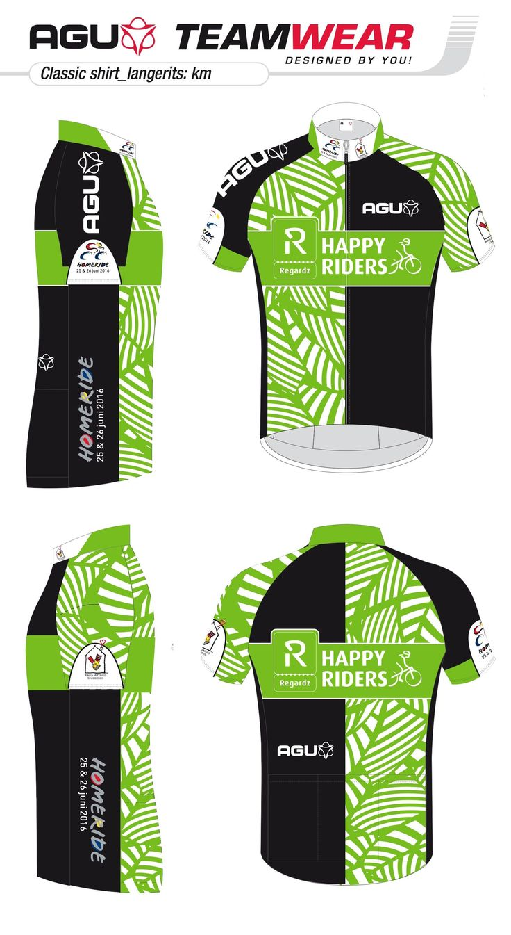 DESIGN YOUR OWN cycling jersey by AGU // Customized Cycling Apparel, designed for Regardz Happy Riders (Netherlands). Interested -> teamwear@agu.nl