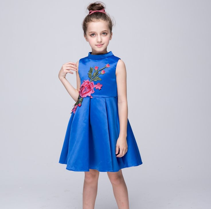 18.71$  Buy here - http://aliq66.shopchina.info/go.php?t=32794677611 - New fancy dress princess dress for girls embroidered flower dresses children's dress summer beautiful kids party clothes XH901  #buyonlinewebsite