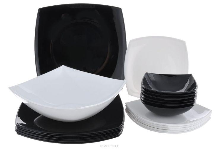 Набор столовой посуды Luminarc Quadrato, 19 предметовC5239Набор Luminarc Quadrato состоит из 6 суповых тарелок, 6 обеденных тарелок, 6 десертных тарелок и глубокого салатника. Изделия выполнены из ударопрочного стекла, имеют яркий и стильный дизайн и квадратную форму. Посуда отличается прочностью, гигиеничностью и долгим сроком службы, она устойчива к появлению царапин и резким перепадам температур. Такой набор прекрасно подойдет как для повседневного использования, так и для праздников или…