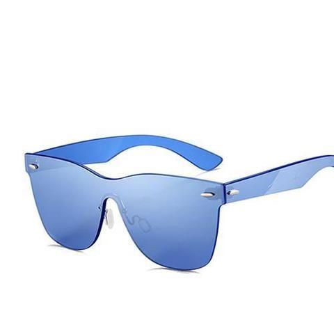 4907ac3429 Men s Fashion Rimless Sunglasses - Green Revo
