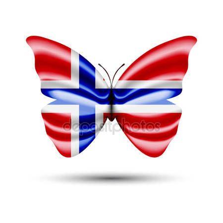 Norway flag butterfly — Stock Vector © jackreznor #141739266