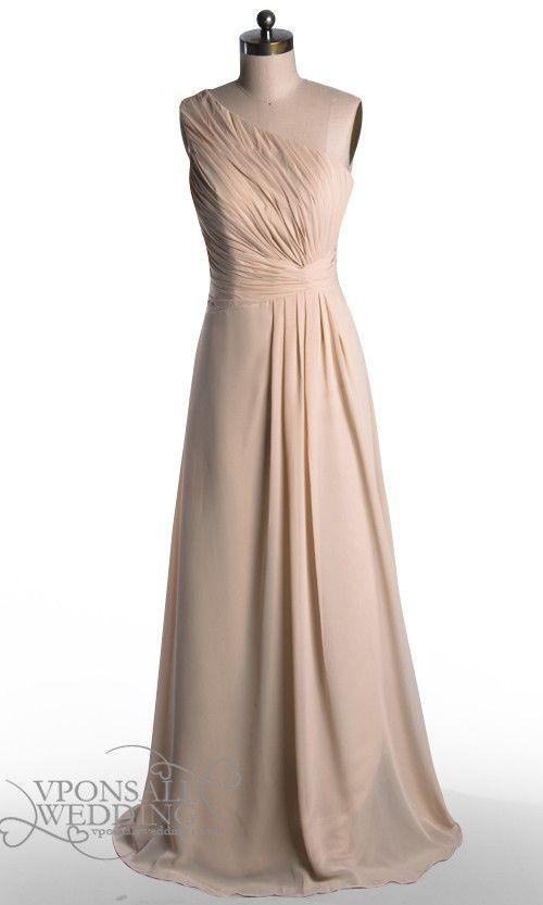 One Shoulder Long Bridesmaid Dress DVW0091