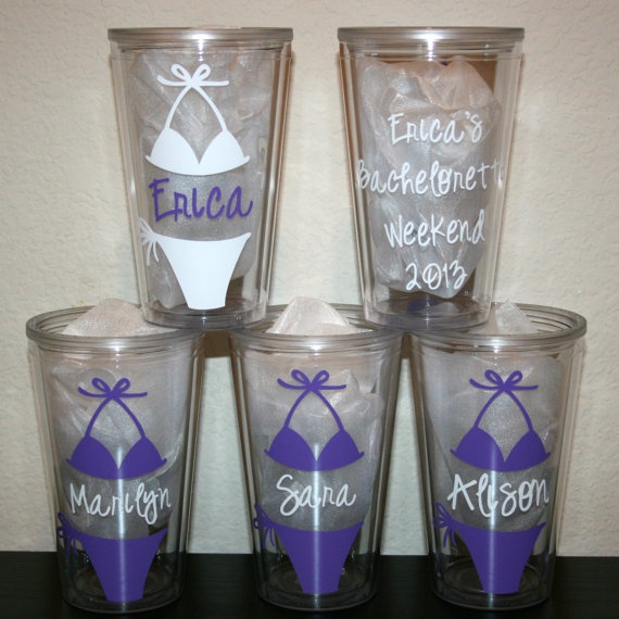 Personalized Cups Tumblers For Bachelorette Party Or