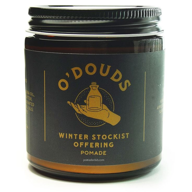 O'Douds Apothecary Winter Stockist Water Based Pomade