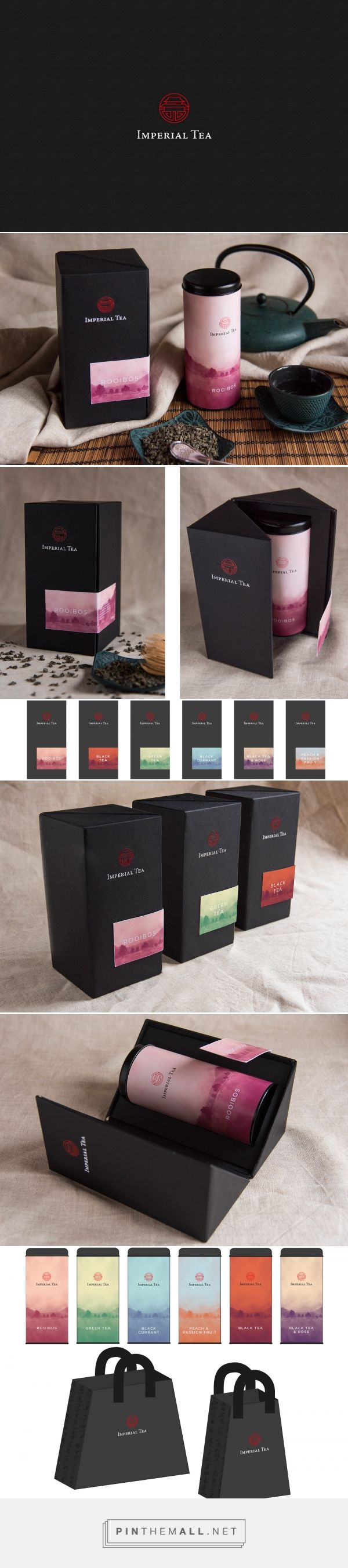 Graphic design, branding and packaging for Imperial Tea on Behance by Lorenzo De Bon Vettorel Pedavena, Italy curated by Packaging Diva PD. Look at those shopping bags. Too bad it's just a concept.