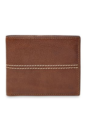 Fossil Women's Turk Leather Bifold With Flip Id Wallet - Brown - One Size