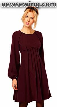 Free Winter Dress Pattern. Cute design, but I would like a longer length.