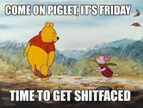 Pooh's opting for the alcohol instead of the hunny! ;) TGIF!