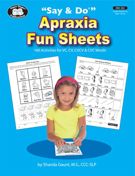 """All Y'all Need: A Review of """"Say & Do"""" Apraxia Fun Sheets. Pinned by SOS Inc. Resources. Follow all our boards at pinterest.com/sostherapy/ for therapy resources."""
