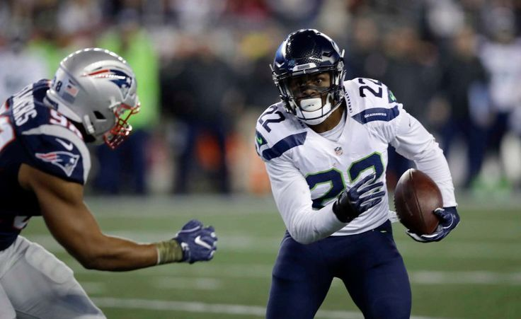Seahawks vs. Patriots:  31-24, Seahawks  -  November 10, 2016  -    New England Patriots defensive lineman Trey Flowers chases Seattle Seahawks running back C.J. Prosise during the first half of an NFL football game, Sunday, Nov. 13, 2016, in Foxborough, Mass.